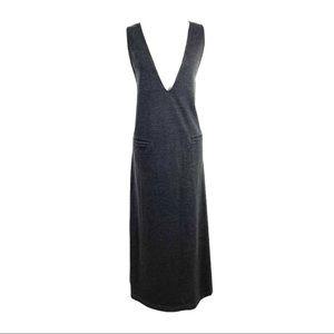 Sara Campbell Maxi Tank Dress Plunge V-Neck Large